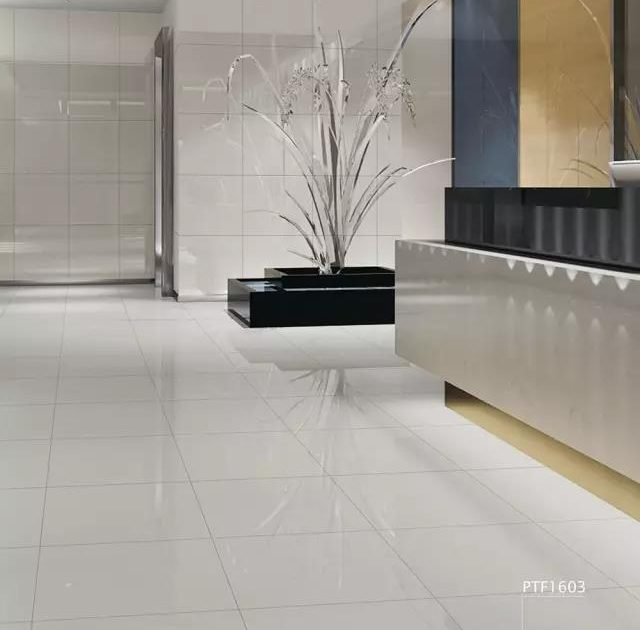beige homogeneous porcelain tiles