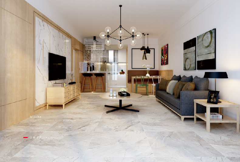 soft glazed porcelain tile for home decor