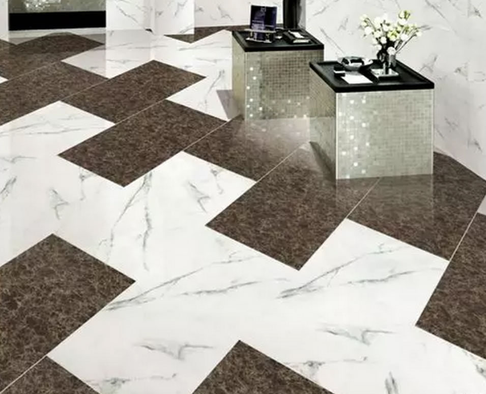 Carara glazed polished porcelain tile