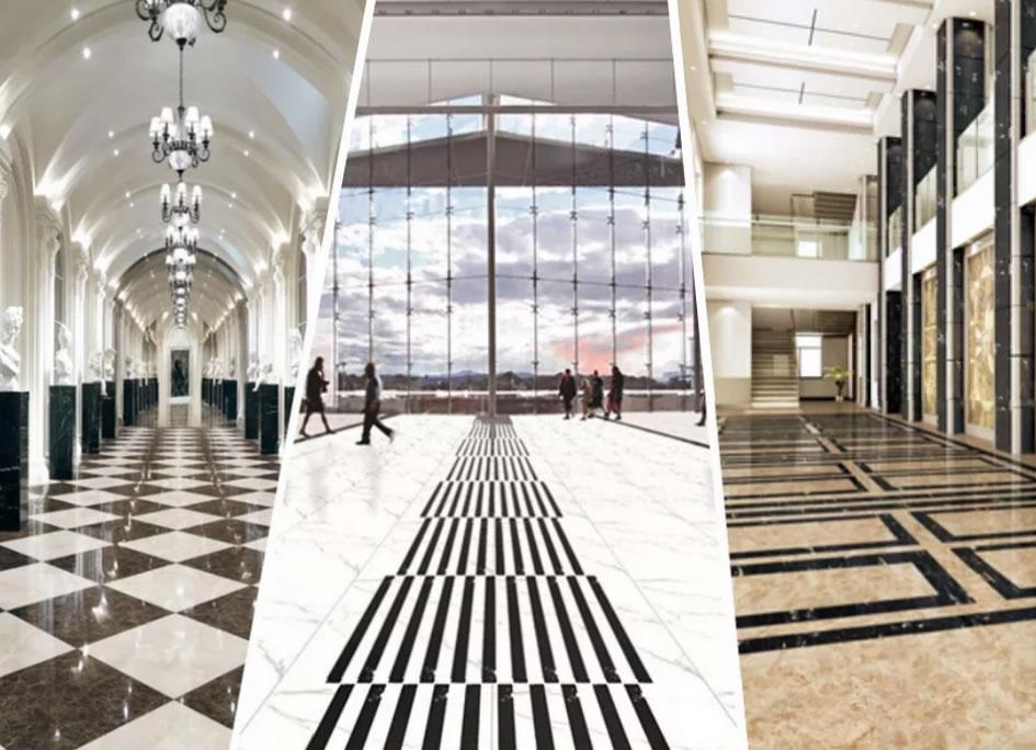 glazed marble tiles