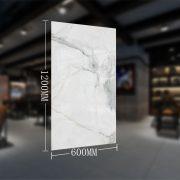 600x1200mm Large Carrara 60x120cm White Marble Look Tile