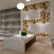thin flower marble tile