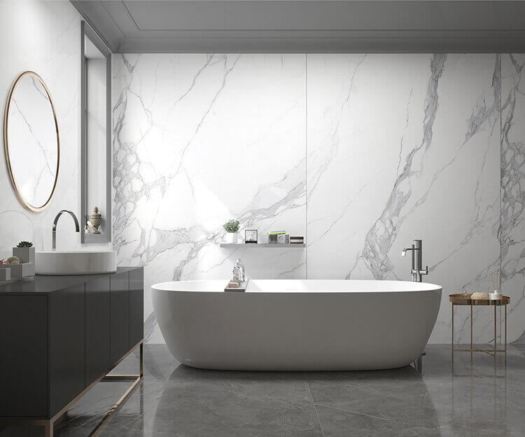 Bathroom Tile Ideas Use Large Tiles, Porcelain Bathroom Tile Ideas
